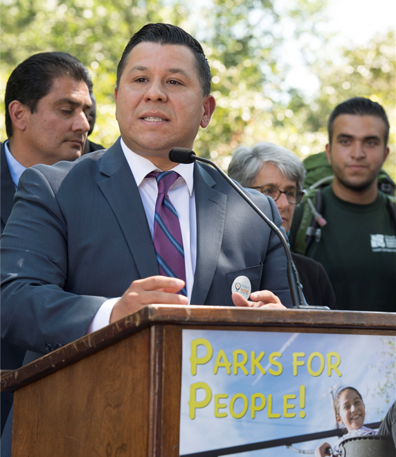 Assemblymember Eduardo Garcia at Parks for People, California Park Bond Rally