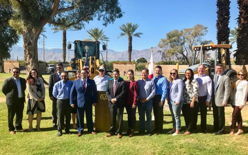 Assemblymember Eduardo Garcia pictured with Eastern Coachella Valley stakeholders