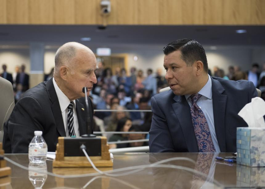 Assemblymember Eduardo Garcia and Governor Brown