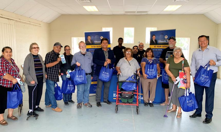Office of Assemblymember Eduardo Garcia Operation Gobble 2019 Turkey Distribution group photo