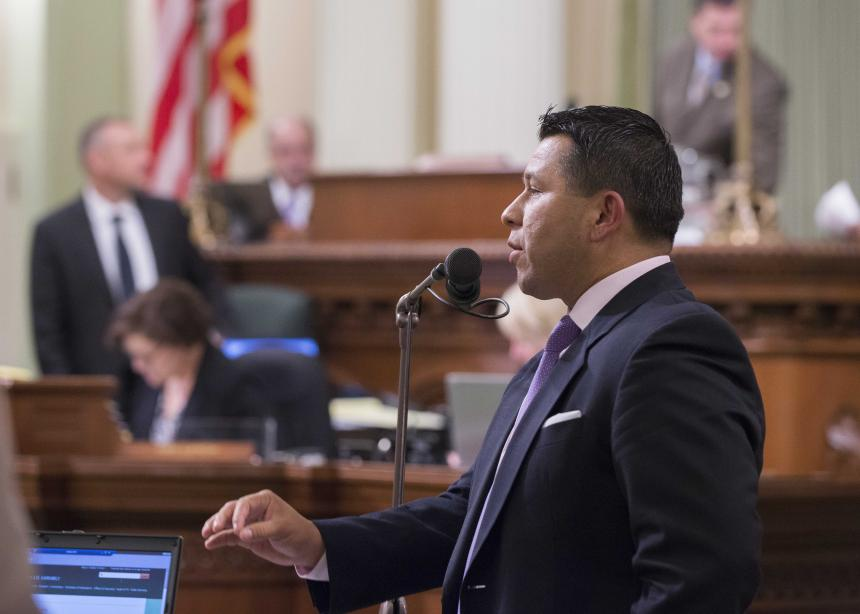 Stock Photo of Assemblymember Eduardo Garcia during Assembly Floor Session