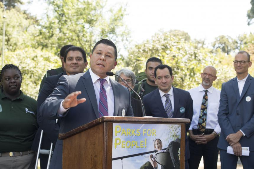 Assemblymember Eduardo Garcia at SB 5 Park Bond Rally