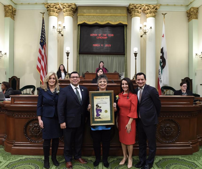 Assemblymember Eduardo Garcia and Beatriz Gonzalez, 2019 Woman of the Year