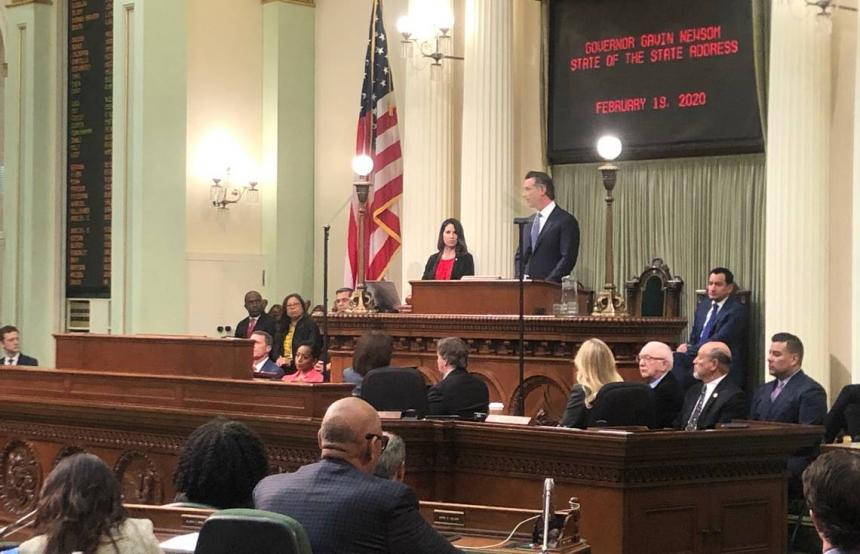 Governor Newsom State of the State Address 2020