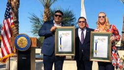 Assemblymember Garcia presents recognitions to 2019's Veterans of the Year.
